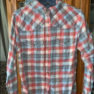 JACHS GIRLFRIEND Flannel plaid Shirt SMALL